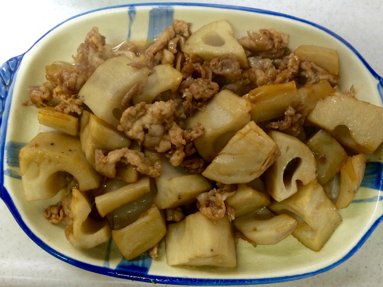 豚肉とれんこんのいため煮